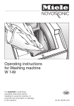 Miele W 149 Operating instructions