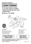 Craftsman 137.186290 Operator`s manual