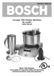 Bosch MUM 7400 UC Owner`s manual