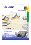 Sharp Notevision XG-NV6XU Operating instructions