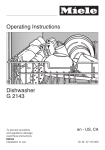 Miele G 2143 Operating instructions