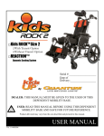 Pride Mobility Kids up series User manual