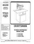 Craftsman 113.198210 Owner`s manual