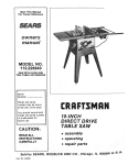 Craftsman 113.226640 Owner`s manual