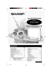 Sharp 25C340 Operating instructions
