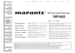 Marantz NR1602 Operating instructions