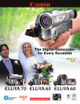 Canon Elura Elura Specifications