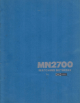 DRAKE MN2700 Specifications