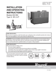 Raypak Hi Delta 302A-902A Operating instructions