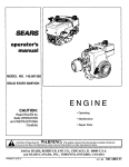 Craftsman 143.001302 Operator`s manual