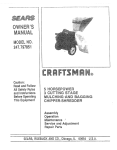 Craftsman 247.797851 Owner`s manual