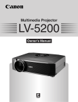 Canon LV-5200 Owner`s manual