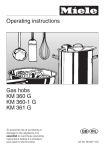 Miele KM 361 G Operating instructions