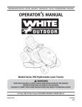 White Outdoor Series 79G Operator`s manual