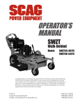 Scag Power Equipment SWZT36-481FS Operator`s manual