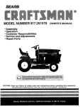 Craftsman 917.251570 Owner`s manual