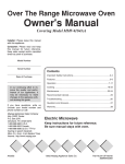 Maytag MMV4184AA Owner`s manual