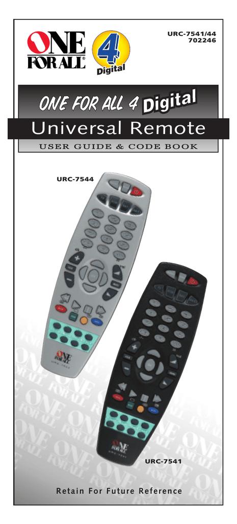 Universal Remote Urc 200 User Guide