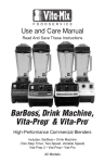 Vita-Mix High-Performance Commercial Blenders Operating instructions