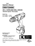 Craftsman 315.114520 Operator`s manual