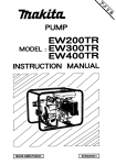 Makita Pump EW400R Instruction manual