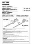 Dolmar HT-2576 E Instruction manual