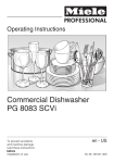 Miele PG 8083 SCVi Operating instructions