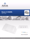 AirLink Communications Raven X HSDPA User guide