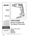 Craftsman 315.111720 Owner`s manual