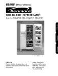 Sears Kenmore 57085 Owner`s manual