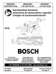 Bosch 5412L Operating instructions