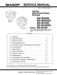 Sharp MX-M200D Service manual