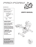 Pro-Form PFEX19810.2 User`s manual