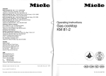 Miele GAS KM 81-2 Operating instructions