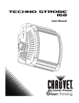 Chauvet Techno Strobe 168 User manual