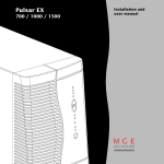 MGE UPS Systems EX 700 User manual