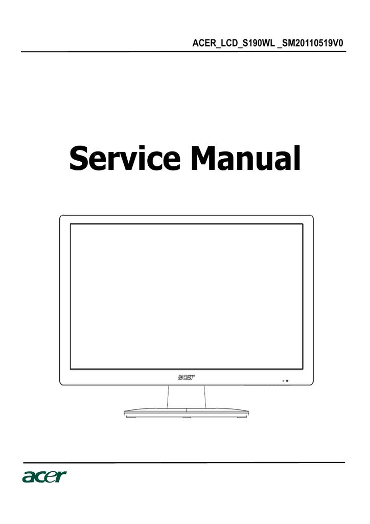 Acer S190WL Service manual