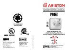 Ariston GL 4 Ti Installation manual
