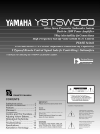Yamaha SW500 Owner`s manual