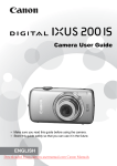 Canon IXUS 200 IS User guide