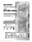 Sharp DV-NC150U Operating instructions