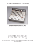 Cooper Sound CS 208 V2 Operator`s manual
