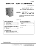 Sharp AE-X30EJ Service manual