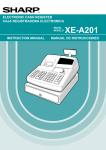 Sharp XE-A201 Instruction manual