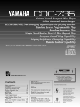 Yamaha CDC-735 Owner`s manual