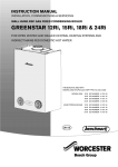 Worcester Greenstar Ri Instruction manual