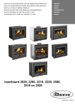 Dovre Dovre Fireplace 2020 Technical data