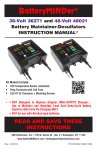 VDC Electronics BatteryMINDer 36271 Instruction manual