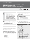 Bosch RP9P Troubleshooting guide