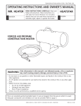Mr. Heater HS35FA Operating instructions